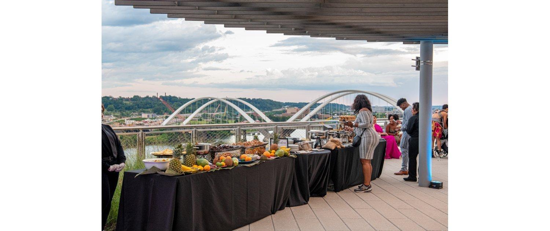 DC Rooftop Wedding Food